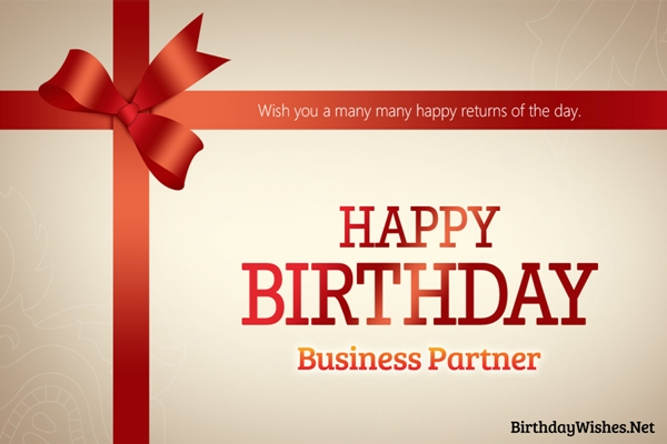 birthday wishes for business partner